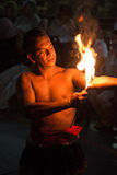 Body burning in a fire performance Stock Photos