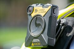 Body camera used by British police officers in London.
