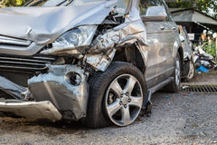 Body of car get damaged by accident Royalty Free Stock Image