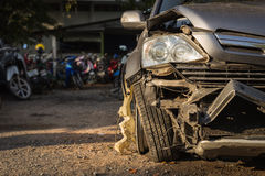 Body of car get damaged by accident Stock Photos