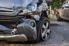 Body of car get damaged by accident Stock Photo