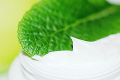 Body care. Cosmetics body cream in close-up Royalty Free Stock Photo