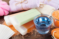 Body Care Accessories Stock Photography
