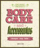 Body Care. Body Care and accessories. Vector Illustration Stock Photography