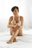 Body Care. Beautiful Woman With Long Legs, Healthy Soft Skin Royalty Free Stock Photo