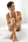 Body Care. Beautiful Woman With Long Legs, Healthy Soft Skin Royalty Free Stock Image