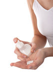 Body care - Close-up of woman hands  Royalty Free Stock Photos