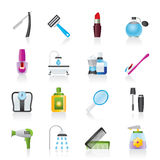 Body care and cosmetics icons Stock Photos