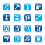 Body care and cosmetics icons. Vector icon set royalty free illustration