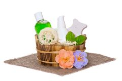 Body care cosmetics Royalty Free Stock Image