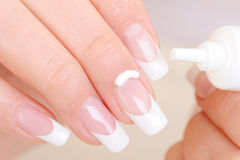 Body care of female fingernail and cuticle Royalty Free Stock Photos
