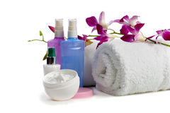 Body care items  with jasmine Stock Photography