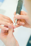 Body care: manicure Royalty Free Stock Photography