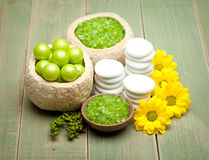 Body care - minerals for Spa Stock Photos