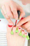 Body care: pedicure Royalty Free Stock Photos
