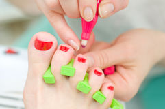 Body care: pedicure Stock Images