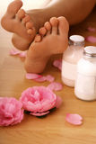 Body care - pedicure Stock Images