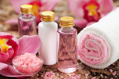 Body care products. Or spa still life Stock Photography