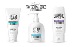 Body care, professional series. Vector template. Stock Image