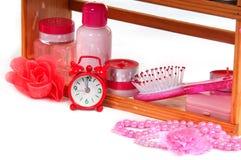 Body care shelf Stock Photography