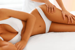 Body care. Spa body massage treatment. Royalty Free Stock Photos