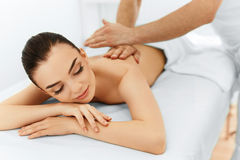 Body Care. Spa Woman. Beauty Treatment. Body Massage, Spa Salon. Body Care. Spa Woman. Beauty Treatment Concept. Masseur Doing Hand Massage On Relaxed Beautiful Royalty Free Stock Photography