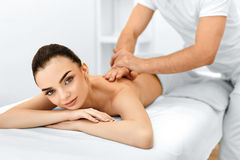 Body Care. Spa Woman. Beauty Treatment. Body Massage, Spa Salon. Body Care. Spa Woman. Beauty Treatment Concept. Masseur Doing Hand Massage On Relaxed Beautiful Stock Images