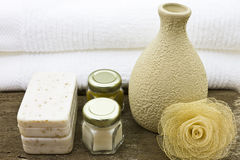 Body care treatment. Skincare treatment and spa beauty Stock Photo