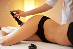 Body Care. Ultrasound Cavitation Body Contouring Treatment. Ant Stock Images