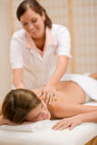 Body care - woman back massage Royalty Free Stock Photos
