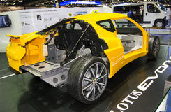 Body chasis and frame of Lotus EVORA in Thailand Motor Expo 2013 Stock Photography