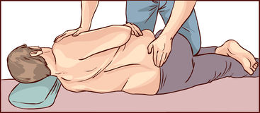Body chiropractic adjustment. A vector image illustration body chiropractic adjustment Stock Photos