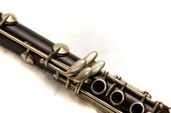 Body of clarinet over white Stock Photography