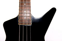 Body of a classic black guitar Stock Photo