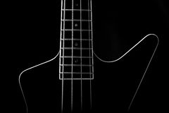 Body of a classic black guitar Royalty Free Stock Images