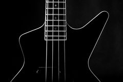 Body of a classic black guitar Stock Photography