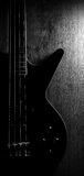 Body of a classic black  guitar Royalty Free Stock Image