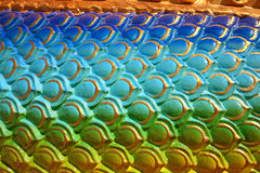 Body of colorful dragon skin Royalty Free Stock Photography