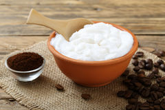 Body cream coffee Royalty Free Stock Images