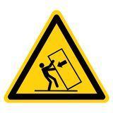 Body Crush Tip over Hazard Symbol Sign, Vector Illustration, Isolate On White Background Label .EPS10 stock illustration