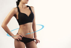 Body with a cycle arrows. Female body with a cycle arrows Royalty Free Stock Photography