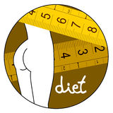 Body diet icon Royalty Free Stock Photo