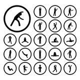 Body exercise  icon Stock Photos