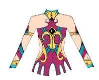 Body för rytmisk gymnastik för design Royaltyfria Bilder