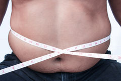 body Fat Man  belly. Royalty Free Stock Photography