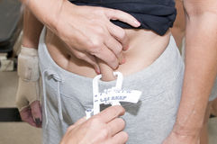 Body Fat Measurement Royalty Free Stock Images