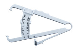 Body fat measuring calipers. Stock Photos