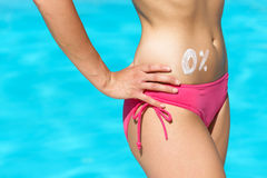 Body fat summer concept stock photo