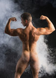 Body of Fit Totally Naked Muscular Man Royalty Free Stock Image