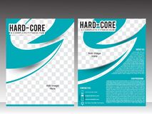 Body fitness or gym flyer template design Stock Photo